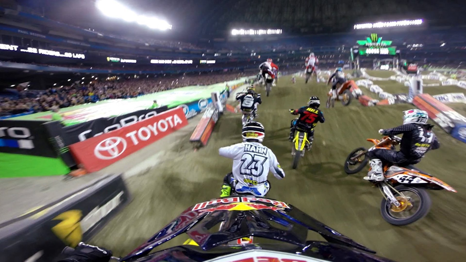 GoPro James Stewart z 14 miejsca na 1 - Toronto Supercross