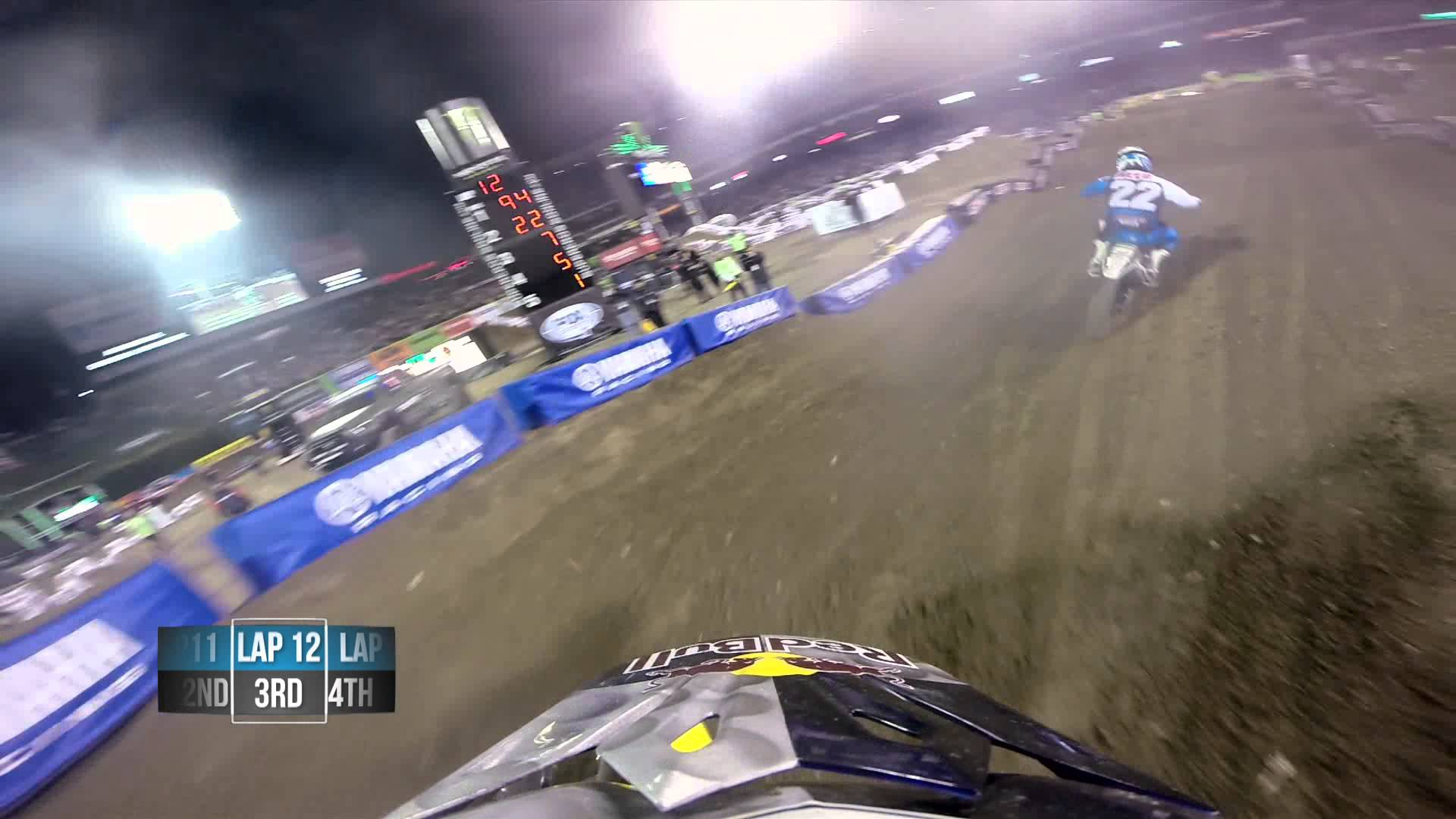 James Stewart Main Event 2014 Monster Energy Supercross from Anaheim - GoPro