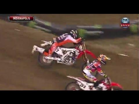 Kompilacja wypadków w AMA Supercross 2013