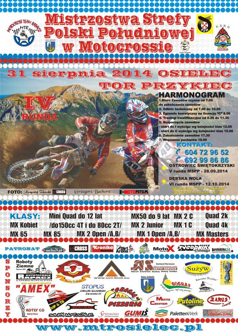 Mistrzostwa Strefy Polski Południowej w Motrocrossie - 31.08 Osielec