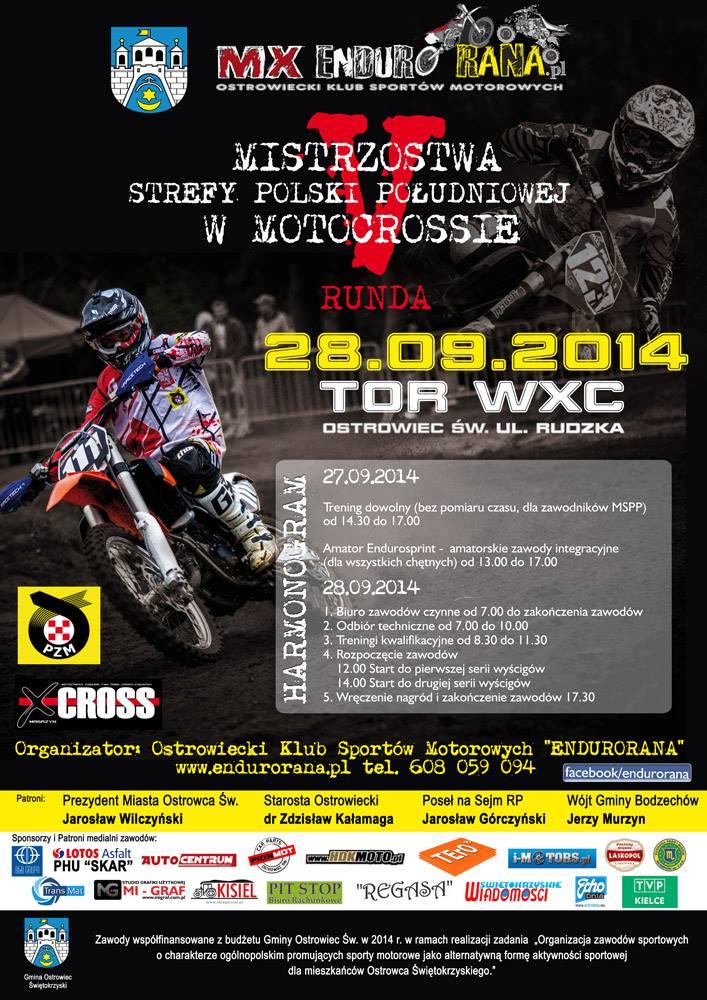 Mistrzostwa Strefy Polski Południowej w Motocrossie - 28.09.2014 Ostrowiec Świętokrzyski