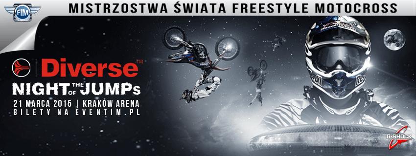 Mistrzostwa Świata FMX - Diverse NIGHT of the JUMPs 2015 Kraków Arena Poland